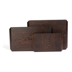 Taylor Donsker - Organic Solid Wood Cutting Boards - Large Black Walnut - Geometric edges with opposite angles create two unique faces in each of these beautiful organic hardwood cutting boards designed and milled by hand in Los Angeles, CA by Taylor Donsker.