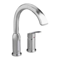 American Standard - Arch High Spout Single Handle Pull-Out Sprayer Kitchen Faucet in Stainless Steel - American Standard 4101.350.075 Arch High Spout Single Handle Pull-Out Sprayer Kitchen Faucet in Stainless Steel. Enjoy the American Standard Arch Single-Handle Pull-Out Sprayer Kitchen Faucet in Stainless Steel with a 24 in. extension hose that makes cleaning the sink or filling large pots easier. The polished chrome finish is designed to brighten your kitchen space and complements a variety of decorating schemes. Its memory position valve makes it possible to pre-set the water temperature setting without having to readjust the handle each time.American Standard 4101.350.075 Arch High Spout Single Handle Pull-Out Sprayer Kitchen Faucet in Stainless Steel, Features:Stainless Steel finish creates a bright look that complements most kitchen decorating schemes