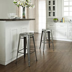 """Crosley Furniture - Amelia Metal Cafe Barstool in Galvanized Fini - Includes (2) Stools. Sturdy Steel Construction. Easy To Assemble. UV Resistant. Stackable. Galvanized finish is hand-prepared, and will rust over time for an authentic vintage appearance.. 17 in. W x 17 in. D x 30 in. HOriginally made famous in the quaint bistros of France, these midcentury replicas of original caf̩ seating will offer a dose of nostalgia combined with careful consideration for your wallet.  This inspired revival evokes a sense of a true vintage find. The Amelia collection is available in a variety of colors, including our unique galvanized finish. This raw steel look is hand prepared to enhance the inherent tones of the metal. Designed to acquire an aged patina, the galvanized finish will naturally rust over time, giving it a unique industrial """"relic"""" look."""
