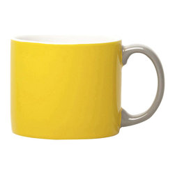 Jansen+co - Jansen+co My Mug Espresso, Yellow with Grey Handle - Known for its use of bold color combinations, Jansen+co's tabletop products combine high quality industrial production with a careful hand finish. A part of the My Mug series, this tiny mug is the perfect size for a shot of espresso in the morning, post meals, late afternoon—whenever you desire. Available in a variety of different colors (& the mugs with contrasting handles), it's encouraged to mix and match with the rest of the Jansen+co products, to create a bright, eclectic, collection of your own.