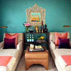 Eclectic Home Theater by Dalliance Design LLC