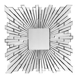 Zuo Accents - Bang Mirror, Clear - Mix and match to make a strong statement or just punch it up with our Bang Mirror Clear. This mirror is handcrafted with a solid back and dual wires to allow for multiple hanging positions.