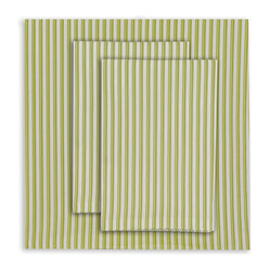 Full Striped Sheet Set, Spring Green