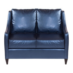 Howard Elliott - Howard Elliott Shimmer Sapphire Side Car Loveseat - Shimmer sapphire side car loveseat
