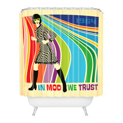 DENY Designs - Anderson Design Group Go Go Dancer Shower Curtain - Who says bathrooms can't be fun? To get the most bang for your buck, start with an artistic, inventive shower curtain. We've got endless options that will really make your bathroom pop. Heck, your guests may start spending a little extra time in there because of it!