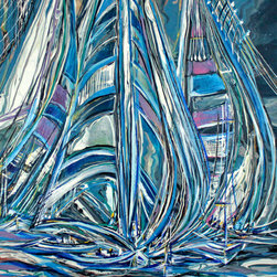 Kozyuk Gallery - Dance With Wind, Painting - Dimensions: 48X36 inches
