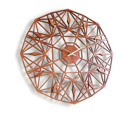 Sarah Mimo Clocks - Sapphire Clock, Caramel - The sleek lines of the Sapphire clock are designed to inspire the calm of productivity and organization.
