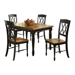 Home Styles - Home Styles Monarch Rectangular Dining Table in Black and Oak Finish - Home Styles - Dining Tables - 500831 - The Monarch Rectangular Dining Table by Home Styles blends upscale design with functionality.