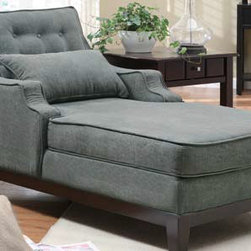 Stylish Seating - Charcoal Chaise
