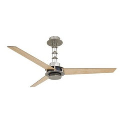 Minka Aire F528-L-BS/CH San Francisco 56 in. Indoor Ceiling Fan - Brushed Steel