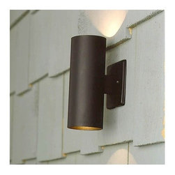 """Kichler - Architectural Bronze Outdoor Wall Washer Accent Light - Bring comfort and security to your home year-round. The combination of up and down lighting in durable materials, perfect along the deck or by entrances to your space. Features: -Finish: Textured Architectural Bronze -Body Material: Aluminum -Requires two bulbs -Voltage: 12V -Bulb Base: Wedge T5 -Maximum Wattage: 11.6W -UL and/or CSA listed use: Suitable for Wet Locations -Dimensions: 6"""" H x 3"""" W About Kichler: Kichler Lighting is a four-time winner of the Arts Award as Lighting Manufacturer of the Year. The highest accolade our lighting industry can give. Today they are the leading decorative lighting fixture company in the world. Founded in 1938, Kichler remains a privately held, family owned and run business staffed by people who understand decorative home lighting fixtures and who care about their customers. Kichler has built their reputation on original, design-oriented, high quality lighting products at competitive prices, backed by the finest customer service in the industry. Helping to make your house a home is their job and our number one priority. They do this by providing their customers with the widest assortment of home lighting fixtures and home decor accessories in the industry. The Kichler family of brands offers lighting for every room in your home, designed to fit every pocketbook, offering choices to complement your lifestyle and tastes."""