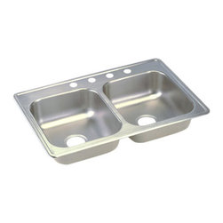 """Dayton - Elkay D233224  33"""" x 22"""" Dayton Sink - Elkay's D233224 is a 33"""" x 22"""" Dayton Sink. This sink is constructed from 22-gauge, 301 Series, nickel bearing stainless steel, and can be mounted on top of almost any surface."""