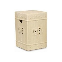 Asian Square- Garden Stool -