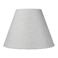 6x12x9 Hard Back Empire Lamp Shade - Khaki Burlap - Home Concept Signature Shades feature the finest premium hardback parchment.