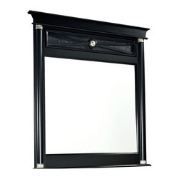 Standard Furniture - Standard Furniture Portico Rectangular Mirror in Black - Portico has an upscale designer persona with its classically inspired Regency styling accented with textured faux alligator surfaces, and rendered in a fashionable black finish.