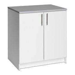 """Prepac - Prepac Elite 32 Base Cabinet - The Elite 32"""" Base Cabinet is the perfect addition to your laundry room, workshop or garage. The 1"""" thick grey melamine countertop provides a durable work surface that will last through all your projects. With one adjustable shelf, this cabinet will accommodate anything you need to store in it. Combine it with other pieces in the Elite Collection for a customized workspace."""