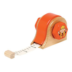 """The Original Toy Company - The Original Toy Company Kids Children Play Measure Up - Our traditional Tape Measure makes it easy to measure up the first years construction jobs. Constructed of hardwood. cloth roll out measuring tape. 6 Tape Measures per display. Size: 3.5""""Lx 2.5""""W. Ages 18 months plus."""