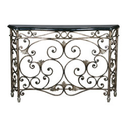 Ambella Home - New Ambella Home Console Table Black Stone - Product Details