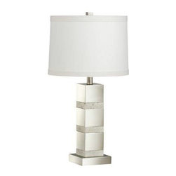 Kichler - Kichler 70873 Denly 1 Light Portable Table Lamp in Brushed Nickel 70873 - Features linen hard back drum shadeBulb Base: Medium Bulb Included: No Bulb Type: Incandescent Collection: Denly Country of Origin: China Energy Efficient: No Finish: Brushed Nickel Height: 25-1 4 Number of Lights: 1 Style: Transitional UL Listed: CULP Wattage: 100 Weight: 9.5 lbs Width: 13-1 2
