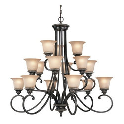 Dolan Designs - Dolan Designs 1753 15 Light Up Lighting Chandelier Hastings Collection - *Hastings Collection 3 Tier Chandelier