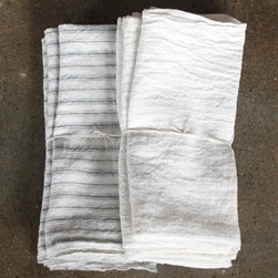 Stripe Napkin Set - Lightweight linen napkins are just what summer messes demand.