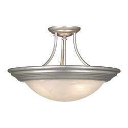 "Vaxcel - Vaxcel CC32720BN Tertial 20"" Semi-Flush Ceiling Light Brushed Nickel - Vaxcel CC32720BN Tertial 20"" Semi-Flush Ceiling Light Brushed Nickel"