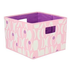 Household Essentials Open Storage Bin - Geo Print - Pink and Purple