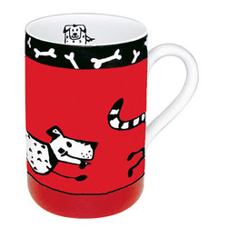 Konitz - Set of 4 Animal Stories Dog - The Animal Stories Dog Mugs are pawsibly the cutest addition to your coffee break yet!
