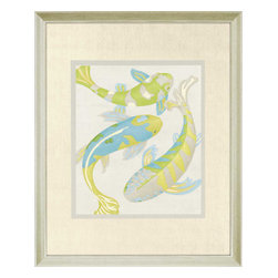 Paragon - Jade Koi II - Framed Art - Each product is custom made upon order so there might be small variations from the picture displayed. No two pieces are exactly alike.