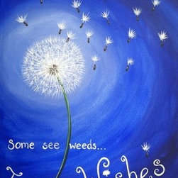 Wishes (Original) By Simone - Dandelions get a bad rap! Where most see weeds...I see WISHES
