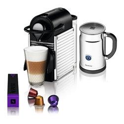 Nespresso - Nespresso Pixie C60 Electric Titan / Aero + Bundle, Steel Lines - Product Description