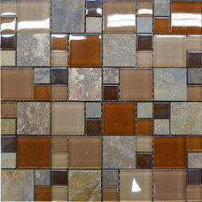 Contemporary Tile by newglasstiles.com
