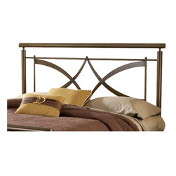 Hillsdale - Hillsdale Marquette Headboard in Brushed Copper-Full/Queen - Hillsdale - Headboards - 1752490 - Contemporary and clean the Marquette is a standout in home décor. The brushed copper finish adds warmth to the modern design features in the headboard and footboard. Small ball finials accentuate the arching criss cross design creating a unique look for your bedroom. Constructed of heavy gauge tubular steel.