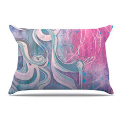 """Kess InHouse - Mat Miller """"Electric Dreams"""" Pillow Case, King (36"""" x 20"""") - This pillowcase, is just as bunny soft as the Kess InHouse duvet. It's made of microfiber velvety fleece. This machine washable fleece pillow case is the perfect accent to any duvet. Be your Bed's Curator."""