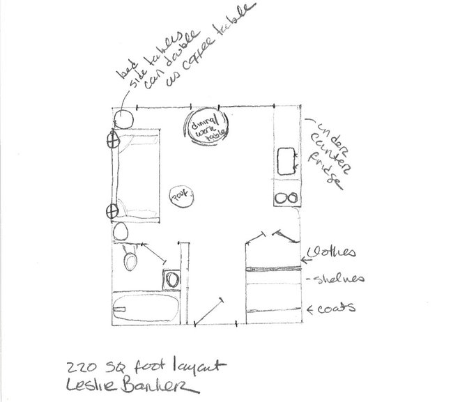 floor plan by Leslie Banker