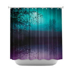 DiaNoche Designs - Shower Curtain Artistic - Song of the Midnight Bird - DiaNoche Designs works with artists from around the world to bring unique, artistic products to decorate all aspects of your home.  Our designer Shower Curtains will be the talk of every guest to visit your bathroom!  Our Shower Curtains have Sewn reinforced holes for curtain rings, Shower Curtain Rings Not Included.  Dye Sublimation printing adheres the ink to the material for long life and durability. Machine Wash upon arrival for maximum softness on cold and dry low.  Printed in USA.