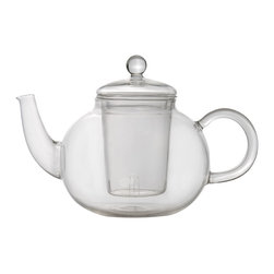 Berghoff - Berghoff Glass tea pot 0.7 qt. - Make your favorite flavored teas in the comfort of your home! This glass teapot features a glass infuser to add any flavor you'd like with ease. It is made of heat resistant glass and can be used in the dishwasher for easy cleanup.