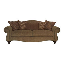 Broyhill - Austin Cherry Stain Loveseat - 5952-1 - Sinuous Springs