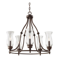 Murray Feiss - Murray Feiss F2783/5 Pickering Lane 5 Light Single Tier Chandelier - Features: