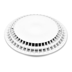 Color Match Pool Fittings - 8-inch Anti-Vortex VGB Pool Drain Cover, White, 8-Inch - Our Anti-Vortex VGB Pool Drain Covers offer exceptional flow rates and can be used for single or multiple drains on the pool floor or wall. They are VBG, ANSI, & NSF certified for pool safety.  The gradual slope design eliminates pool cleaner hang ups.