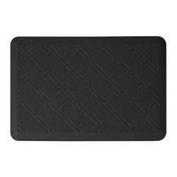 WellnessMats - Wellness Mats Floor Mat Motif Moire 3'x2', Black - As in all of our mats, the Motif Collection surface is incredibly supportive, resilient and feels like heaven on your feet. It is easy-to-clean, will never curl or delaminate and, of course, it provides unprecedented comfort and relief while you stand.