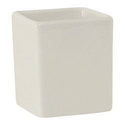 Tuxton - AlumaTux Specialty 3 oz Square Ramekin Fit TUXAMU557 Pearl White - Case of 24 - Creativity is at the core of every tabletop. With these AlumaTux Specialty Items the possibilities are endless and limited only by your imagination.