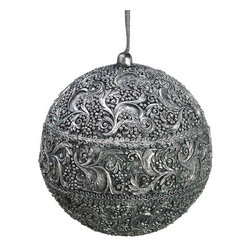 Silk Plants Direct - Silk Plants Direct Ball Ornament (Pack of 12) - Silver Antique - Silk Plants Direct specializes in manufacturing, design and supply of the most life-like, premium quality artificial plants, trees, flowers, arrangements, topiaries and containers for home, office and commercial use. Our Ball Ornament includes the following: