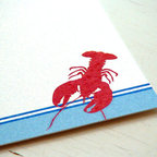 Lobster Party Invitations, New England Clambake by Fiona Designs - As soon as your guests open their invitation to your clambake, they'll know their in for a special treat!