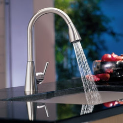 Moen Pull Out Spray Kitchen Faucet - Moen S71708CSL Ascent Single Handle Pullout Kitchen Faucet in Classic Stainless