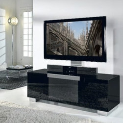 Italydesign Studios - Modern Flat TV Stand - The sleek beauty of today's high-tech audio/video equipment requires specialized furniture to properly house it. Their are several pieces in this collection which includes the flat TV stand and a matching coffee table. The new Modern Flat TV Stand is an intelligently engineered piece of modern furniture designed exclusively for LCD. LED and Plasma televisions.