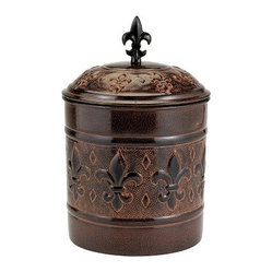 "7"" Dia. x 10¾ H. ""Versailles"" Cookie Jar w/Fresh Seal Cover, 4Qt."