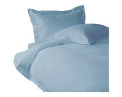 600 TC Duvet Cover with 1 Flat Sheet Striped Egyptian Blue, Full - You are buying 1 Duvet Cover (88 x 88 inches) and 1 Flat Sheet (81 x 96 inches) only.