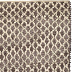 Serena & Lily - Diamond Loop Rug Pewter - Graphic and textural, this chunky rug adds so much depth and dimension to the room. It's braided and looped by hand of the softest wool in shades of pewter and ivory.