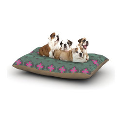 "Kess InHouse - Deepti Munshaw ""Chevron and Dots"" Rainbow Fleece Dog Bed (30"" x 40"") - Pets deserve to be as comfortable as their humans! These dog beds not only give your pet the utmost comfort with their fleece cozy top but they match your house and decor! Kess Inhouse gives your pet some style by adding vivaciously artistic work onto their favorite place to lay, their bed! What's the best part? These are totally machine washable, just unzip the cover and throw it in the washing machine!"